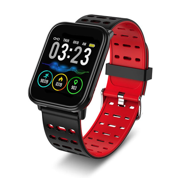 Red - 2019 BANGWEI Smart Sport Men Watch IP67 Waterproof Fitness Bluetooth Watches Pedometer Tracker Heart Rate Monitoring Smart Watch