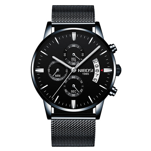 Whole Black Alloy - NIBOSI Relogio Masculino Men Watches Luxury Famous Top Brand Men's Fashion Casual Dress Watch Military Quartz Wristwatches Saat