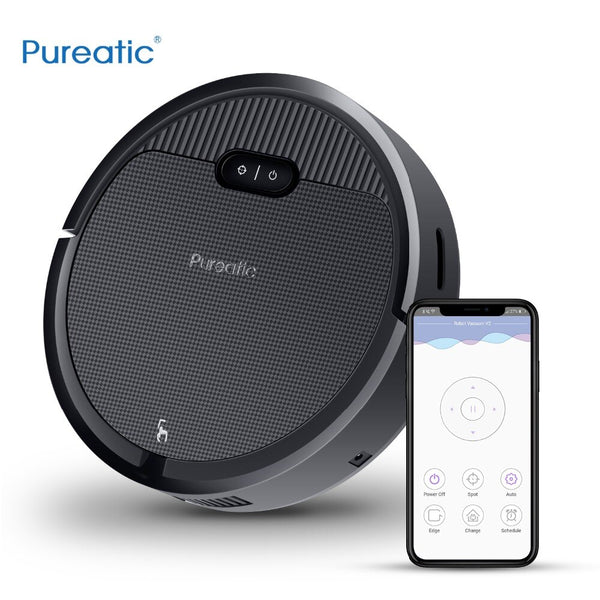 [variant_title] - Pureatic V2 Intelligent Robot Vacuum Cleaner App Control Big Suction Automatic Recharge Plan time for Pet Hair Home with Mop