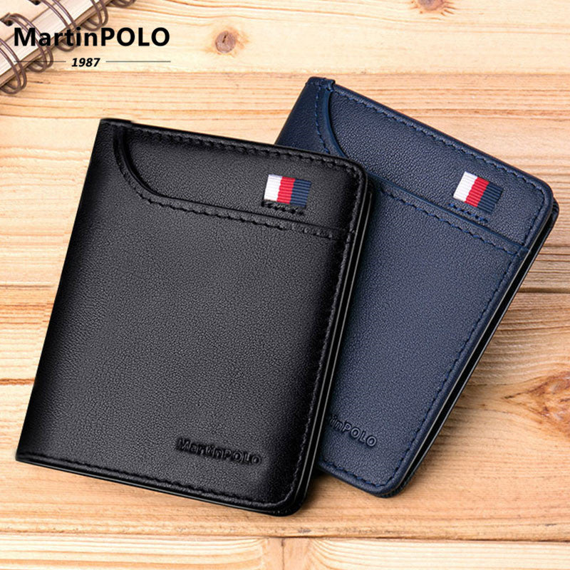 [variant_title] - MartinPOLO Wallet Men Genuine Leather Wallet Short Design Ultra-thin Slim Coin Purse Photo And Card Holder Pure Cowhide MP1001