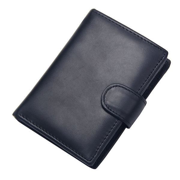 Black - Vintage Men's Short Wallet Men Genuine Leather Clutch Wallets Purses First Layer Real Leather Multi-Card Bit Retro Card Holder