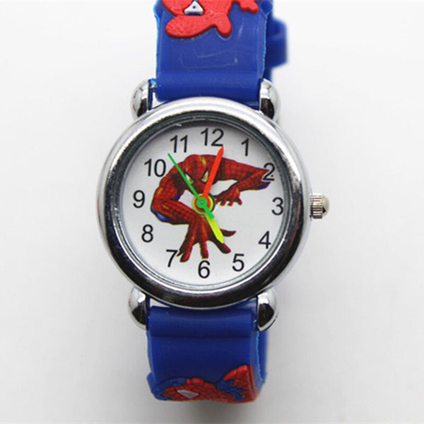 [variant_title] - 3D Spiderman Children's Watches For Boys Girls Clock Kids Watch Superhero Spider Man Silicone Children Watch Baby Birthday Gift