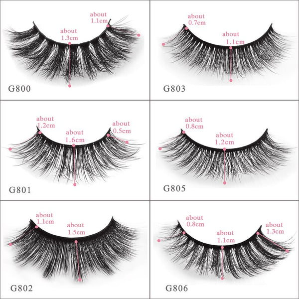 [variant_title] - SHIDISHANGPIN 5 pairs mink eyelashes natural long 3d mink lashes hand made false eyelashes dramatic eyelashes makeup fake lashes