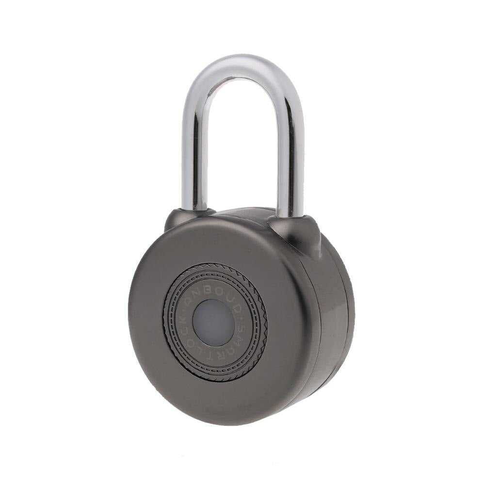 GRAY - OOTDTY 2 Color Wireless Control Smart Bluetooth Padlock Master Keys Types Lock with APP Control