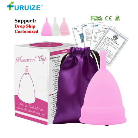 [variant_title] - Hot Sale Menstrual cup for Women Feminine hygiene Medical 100% silicone Cup Menstrual reusable lady cup copa menstrual than pads