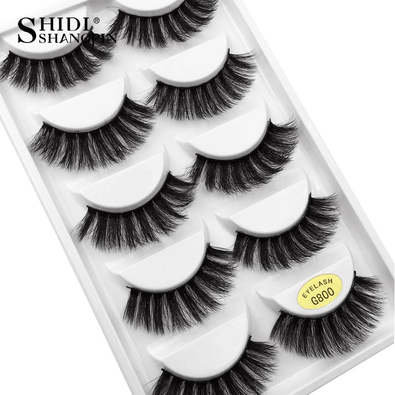 G800 - 5 Pairs eyelashes thick 3d mink lashes handmade eye lashes false eyelashes natural long mink eyelashes for makeup cilios 3d mink