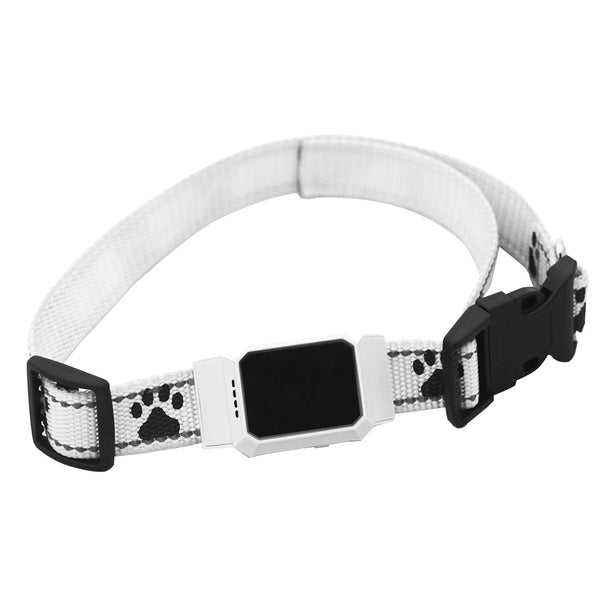 White - Smart GPS Tracker Collar For Pet Dogs Cats Tracking Locator GSM WiFi LBS Real-time APP Tracking Alarm Device Anti-Lost Geofence