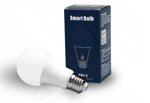 [variant_title] - 2019 New smart 4.5W E27 RGBW led light bulb Bluetooth 4.0 smart lighting lamp color change dimmable AC85-265V for home hotel