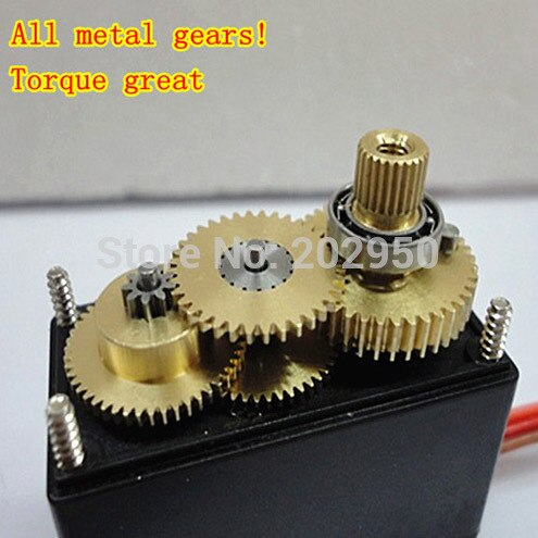 Default Title - 2pcs MG995 Servo High Speed Digital Metal Gear Ball Bearing Torque 12kg Servo Motor MG995 For RC Car Robot Servos Arduino UNO