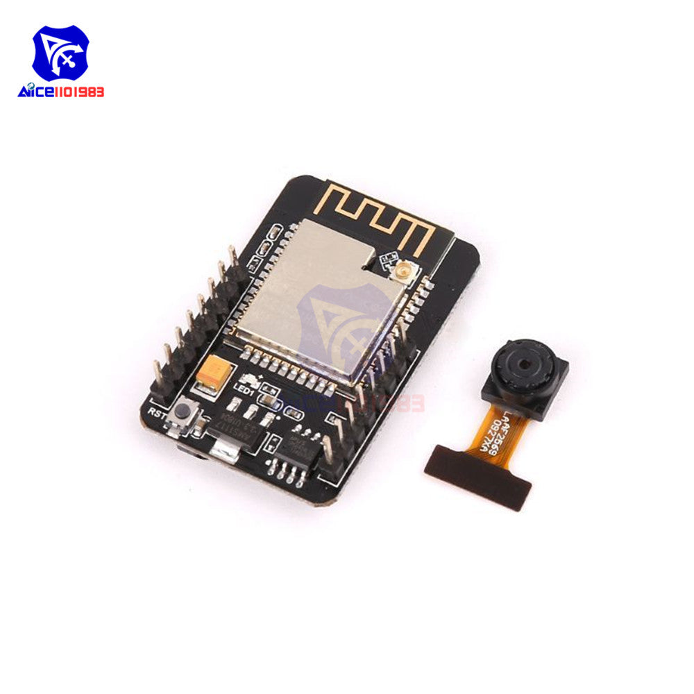 ESP-32CAM - ESP32-CAM ESP32-S WIFI Bluetooth Expansion Board OV2640 2MP Wireless Camera Module ES8266 ESP32S w/ IPEX Socket for Arduino MCU