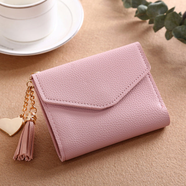230ShortWallet-6 - Long Wallet Women Purses Tassel Fashion Coin Purse Card Holder Wallets Female High Quality Clutch Money Bag PU Leather Wallet