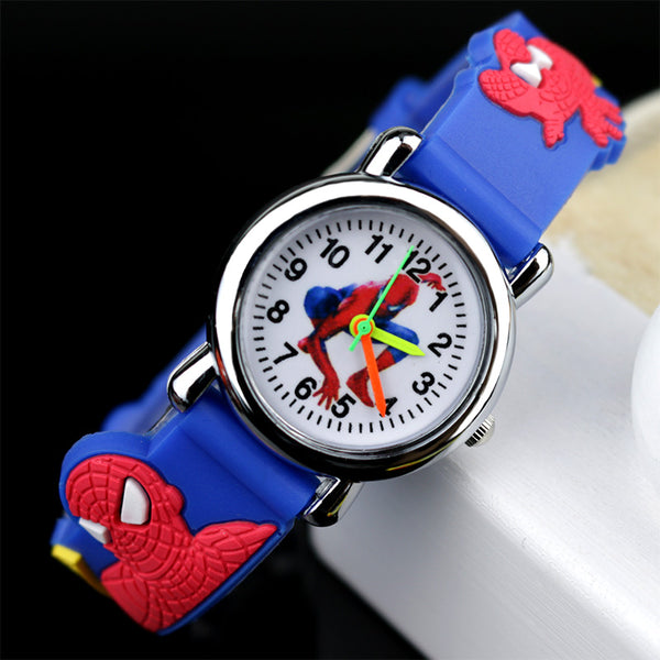 Blue no Flash light - 2019 Spiderman Children Watches Cartoon Electronic Colorful Light Source Child Watch Boys Birthday Party Kids Gift Clock Wrist