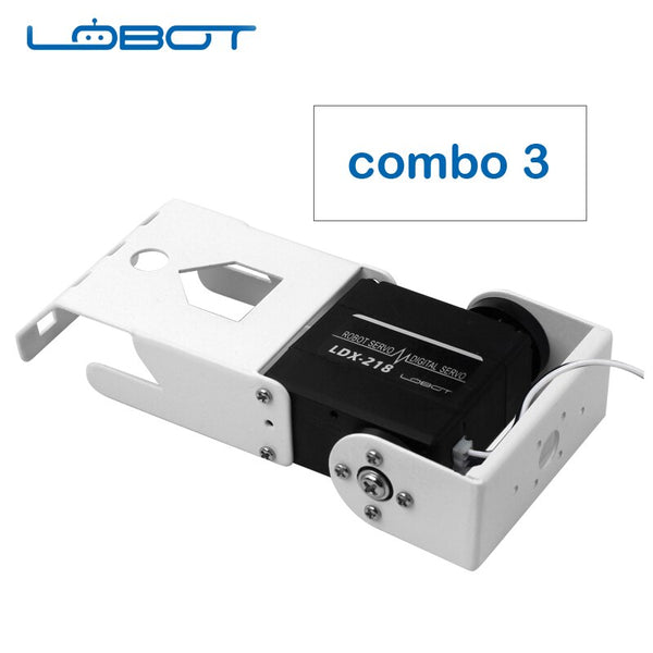 [variant_title] - LOBOT Robot Arduino Metal Gear Dual Digital Servo Motor with Bracket Robotic DIY Remote Control RC Parts Robot Toy for Children