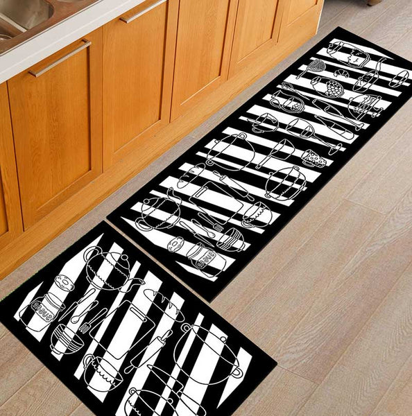 07 / 50x160cm - Kitchen Mat Cheaper Anti-slip Modern Area Rugs Living Room Balcony Bathroom Printed Carpet Doormat Hallway Geometric Bath Mat