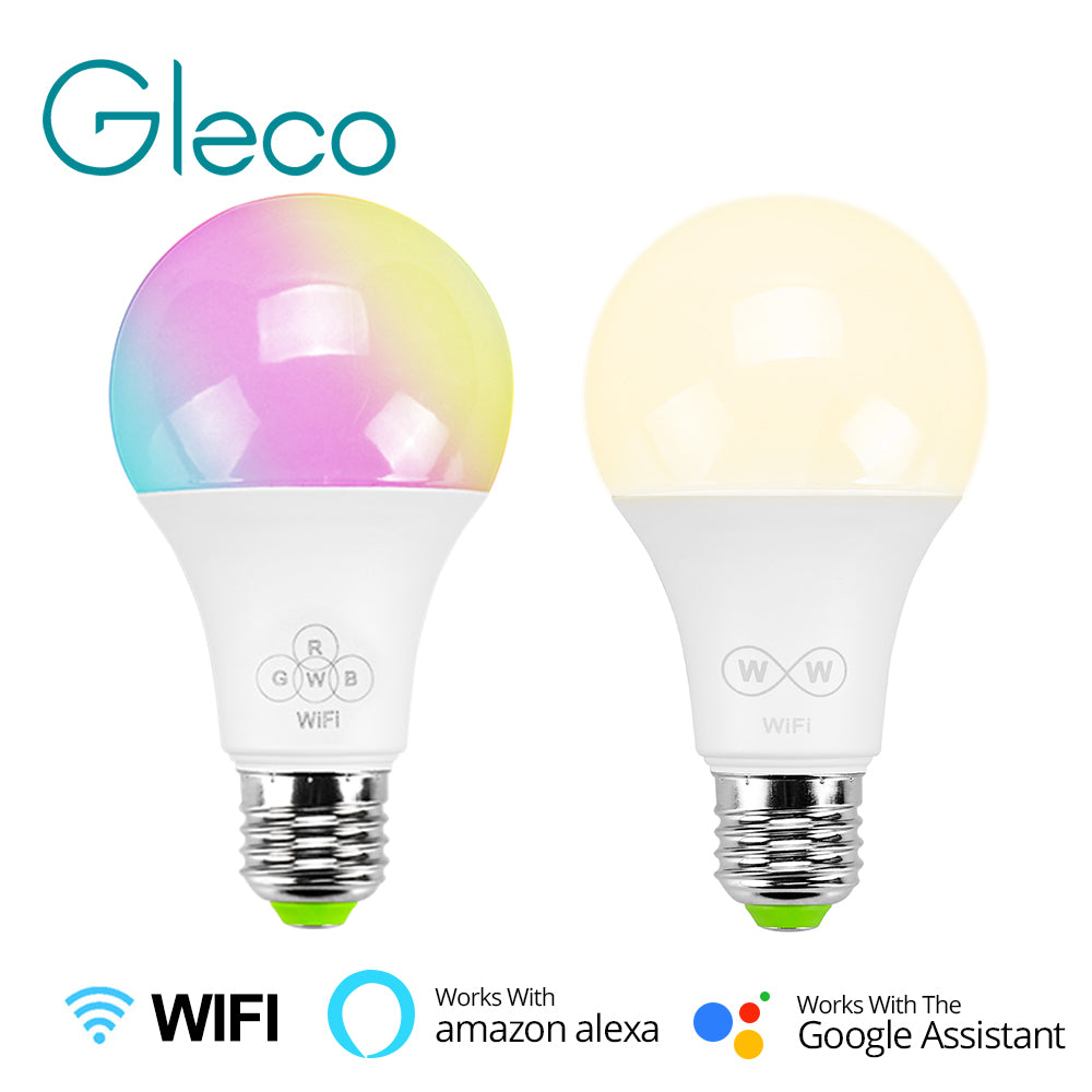 [variant_title] - E27 Smart WiFi LED Bulb RGBW CCT 6.5W work with Amazon Alexa & Google Home APP control AC85-265V LED Bulb Lamp