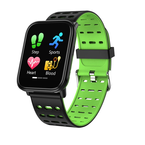 Green - BINSSAW  T6 New Smart Watch Men Women Heart Rate Monitor Blood Pressure Fitness Tracker Smartwatch Sport Watch for ios android