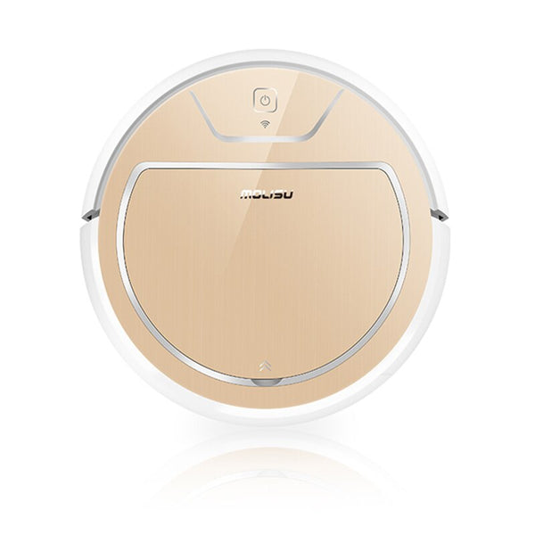 Luxurious gold / AU - Robot Vacuum Cleaner 350ML Electronic Suction Sweep Dry and Wet 2000 Pa Intelligent Navigation APP Control Robotic Dust Cleaner