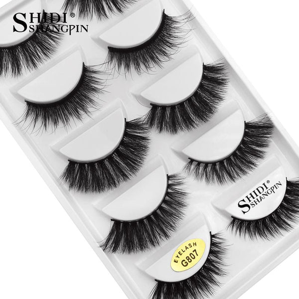 G807 - 5 Pairs eyelashes thick 3d mink lashes handmade eye lashes false eyelashes natural long mink eyelashes for makeup cilios 3d mink