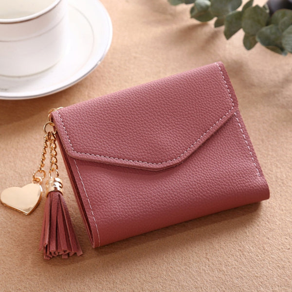 230ShortWallet-3 - Long Wallet Women Purses Tassel Fashion Coin Purse Card Holder Wallets Female High Quality Clutch Money Bag PU Leather Wallet