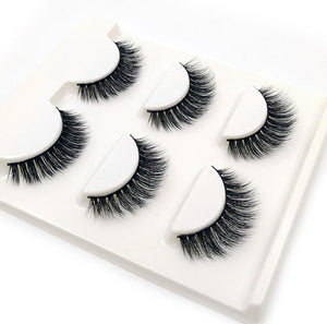 Default Title - 3 Pairs natural false eyelashes thick makeup real 3d mink lashes soft eyelash extension fake eye lashes long mink eyelashes 3d