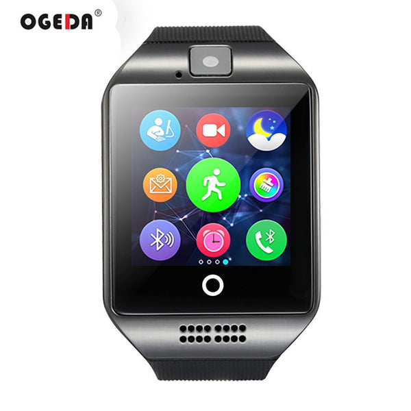 [variant_title] - Smart Watch Q18 Passometer Smart Clock with Touch Screen Camera TF card Bluetooth Smartwatch for Android IOS Phone Men Watch