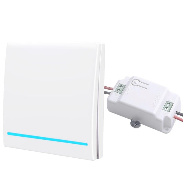 1 gang 1 Receiver W - SMATRUL 433Mhz Wireless smart Light Switch RF Remote Control 1000W 50M AC 110V 220V Receiver Wall Panel push button Bedroom Lamp