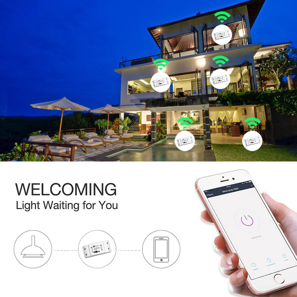 [variant_title] - DIY WiFi Smart Light Switch Universal Breaker Timer Wireless Remote Control Works with Alexa Google Home Smart Home 1 Piece