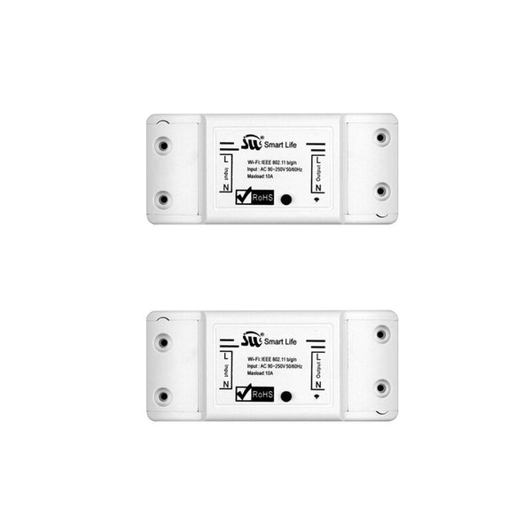 2 PCs - DIY WiFi Smart Light Switch Universal Breaker Timer Wireless Remote Control Works with Alexa Google Home Smart Home 1 Piece