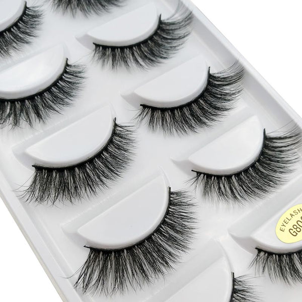 G806 - 5 Pairs eyelashes thick 3d mink lashes handmade eye lashes false eyelashes natural long mink eyelashes for makeup cilios 3d mink