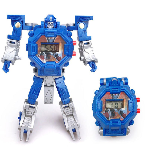 2 - Waterproof Robot Children Watch Toys for Children Birthday Christmas Gift Boys Watches