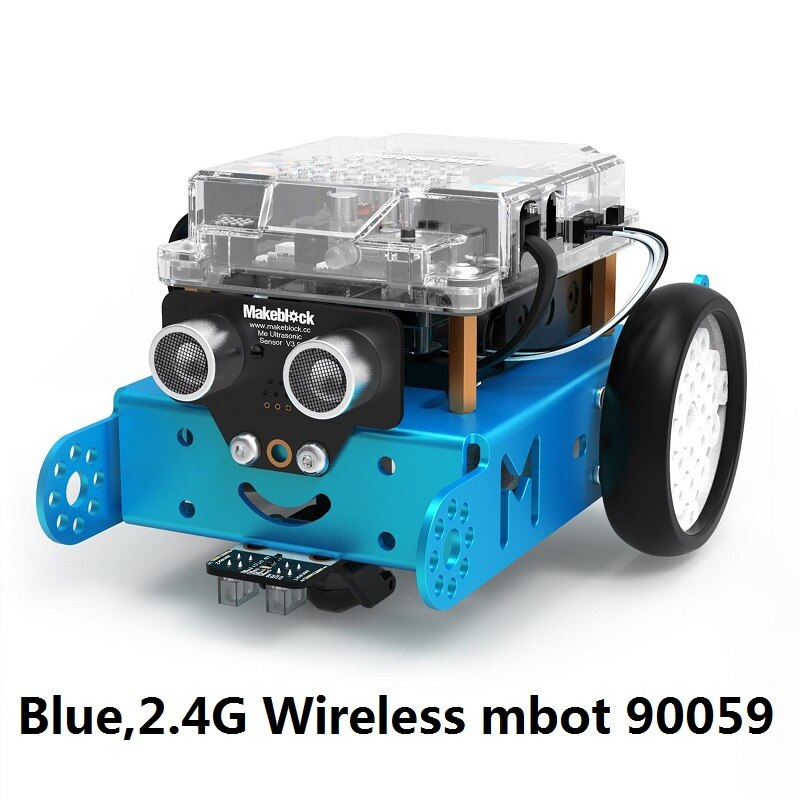 Blue 2.4G mBot - 2019 Newest Makeblock mBot V1.1 Programmable Kids Toys Educational birthday Gift Scratch 2.0 Arduino DIY Smart Robot Car Kit