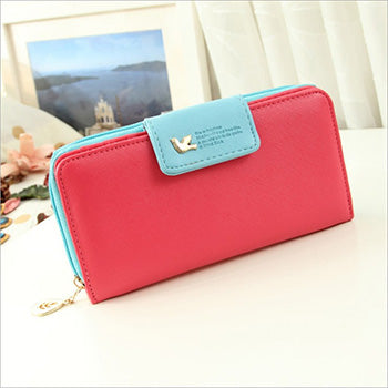 D - Mara's Dream Women Leather Wallet Women's Clutch Bag Hasp Wallet Zipper Long Purses Card Holder High Quality Bolsa Feminina
