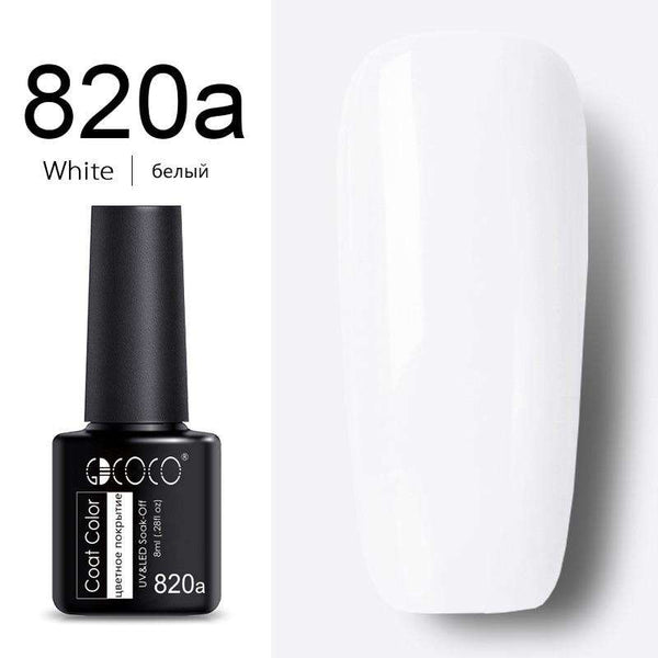 820a White - #86102 GDCOCO 2019 New Arrival Primer Gel Varnish Soak Off UV LED Gel Nail Polish Base Coat No Wipe Top Color Gel Polish