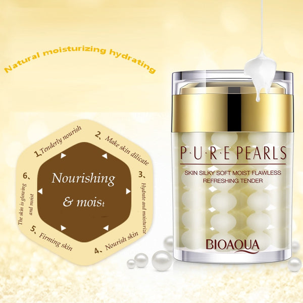 [variant_title] - BIOAQUA Pure Pearl Cream Whitening Moisturizing Brighten Anti Wrinkle Anti Aging Day Cream Firming lift Freckle Removal SkinCare