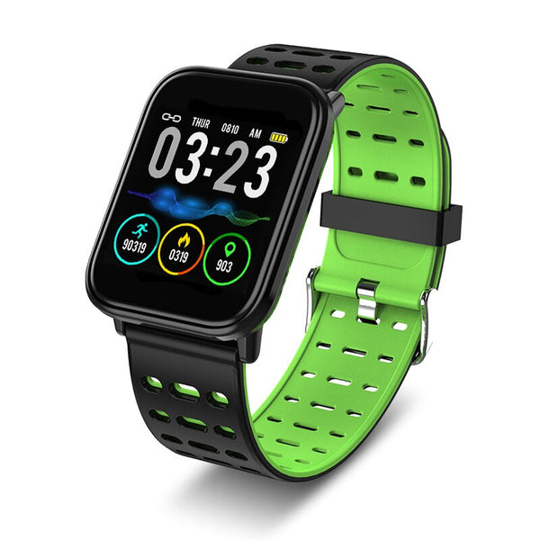 green - 2019 BANGWEI Smart Sport Men Watch IP67 Waterproof Fitness Bluetooth Watches Pedometer Tracker Heart Rate Monitoring Smart Watch