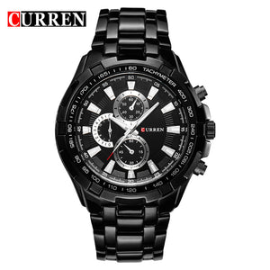 black black - HOT2016 CURREN Watches Men quartz TopBrand  Analog  Military male Watches Men Sports army Watch Waterproof Relogio Masculino8023