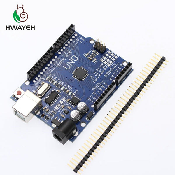 UNO R3 - HWAYEH high quality One set UNO R3 CH340G+MEGA328P Chip 16Mhz For Arduino UNO R3 Development board + USB CABLE