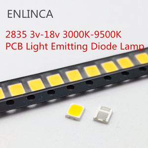[variant_title] - 100pcs SMD LED 2835 Chips 1W 3V 6V 9V 18V beads light White warm 0.5W 1W 130LM Surface Mount PCB Light Emitting Diode Lamp