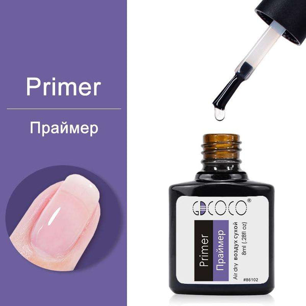 Primer - #86102 GDCOCO 2019 New Arrival Primer Gel Varnish Soak Off UV LED Gel Nail Polish Base Coat No Wipe Top Color Gel Polish