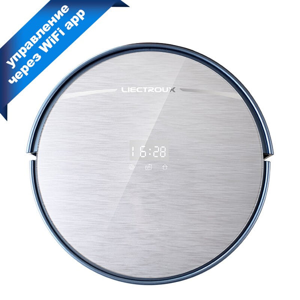 [variant_title] - LIECTROUX X5S Robotic Vacuum Cleaner WIFI APP Control,Gyroscope Navigation,Intelligent Mapping Planned Wet and Dry Cleaning