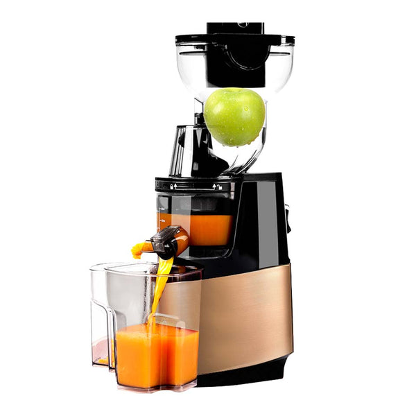 Yellow / AU - 250w powerful 90mm large  diameter wide mouth Fruit nutrition slow juicer Fruit Vegetable Tools Multifunctional  Fruit Squeezer