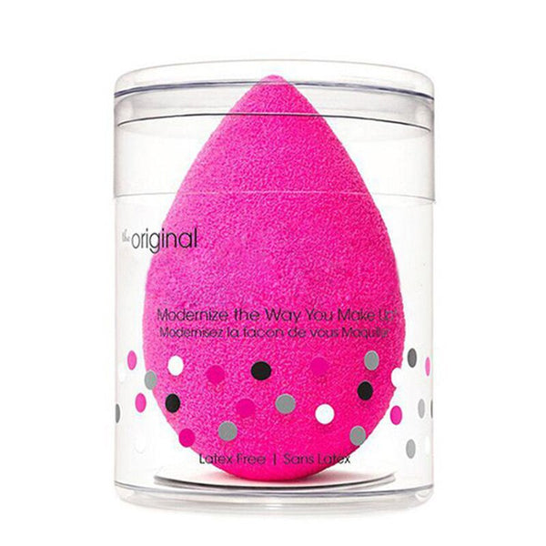 Red - Brand Beauty Cosmetic Soft Sponge Foundation Makeup Sponge Puff Blending Sponge Flaw less Smooth Powder Sponge Egg Grow Big