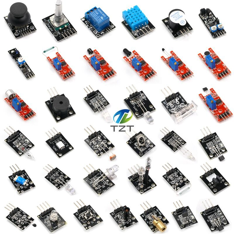 [variant_title] - 37 IN 1 SENSOR KITS FOR ARDUINO HIGH-QUALITY For Arduino Starters  (Works with Official for Arduino Boards)with box