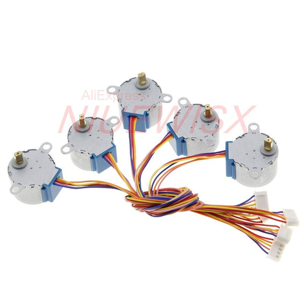 [variant_title] - 5pcs New Brand 28BYJ-48 DC 5V Reduction Step Motor Gear Stepper Motor 4 Phase Step Motor for arduino Free shipping