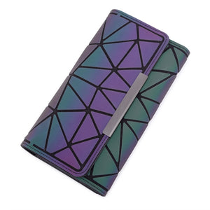 1 Pinjie - Aliwood 2018 Hot Brand Bao Wallet Women Clutch Ladies Cards bag Fashion Geometric Female bags Noctilucent luminous Long Purse