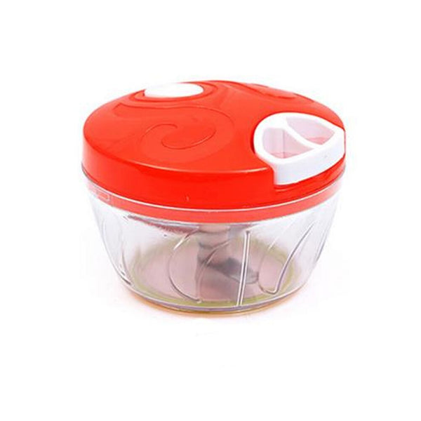 Red - Mini Hand Manual Meat Grinder Mini Chopper Design Pull the Rope Garlic Cutter Vegetable Fruit Twist Shredder Kitchen Tools