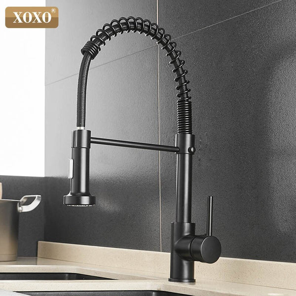 1343A-H - XOXO Kitchen Faucet Pull Out Cold and Hot Brushed Nickel Torneira  Rotate Swivel 2-Function Water Outlet Mixer Tap 1343A-S