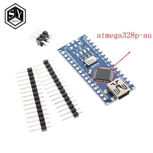 328p-au chip - Nano 1PCS Mini USB With the bootloader Nano 3.0 controller compatible for arduino CH340 USB driver 16Mhz NANO V3.0 Atmega328
