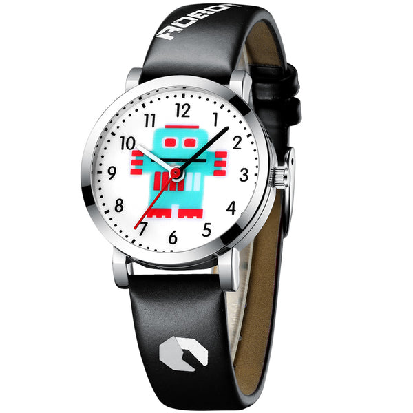 [variant_title] - KDM Cartoon Watches Kid Girls Waterproof Leather Straps Sport Wristwatch Children Quartz Watch Fashion Cute Clock Montre Enfant