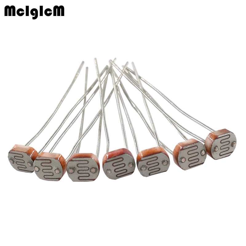 [variant_title] - MCIGICM 50pcs 5516 5537 5528 5549 5539 light dependent photo resistor photoresistor resistor 5mm photosensitive resistance LDR